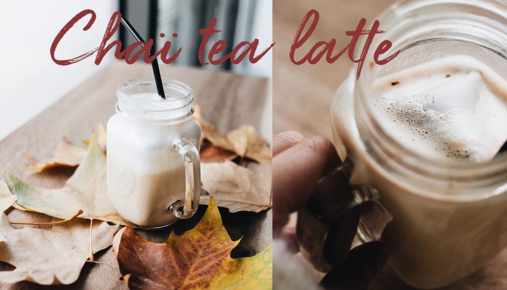 Nouveauté d'automne : le chaï tea latte !